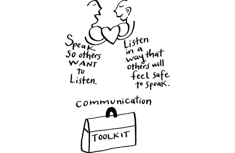 Communication Toolkit: Speak so others want to listen. Listen in a way that others will feel safe to speak.
